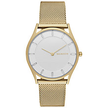 Buy Skagen SKW2377 Women's Holst Stainless Steel Mesh Bracelet Strap Watch, Gold Online at johnlewis.com