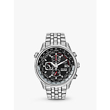 Buy Citizen CA0080-54E Men's Red Arrows Chronograph Mesh Bracelet Watch, Silver/Black Online at johnlewis.com