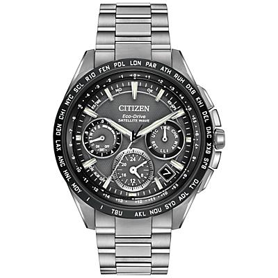 Citizen CC9015-71E Men's Satellite Wave Titanium Bracelet Strap Watch, Silver/Black