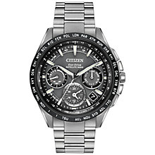 Buy Citizen CC9015-71E Men's Satellite Wave Titanium Bracelet Strap Watch, Silver/Black Online at johnlewis.com