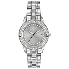 Buy Citizen Women's Silhouette Crystal Bracelet Strap Watch Online at johnlewis.com
