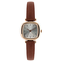Buy Komono KOM-W1320 Women's Moneypenny Band Strap Watch, Brown/Silver Online at johnlewis.com