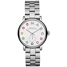 Buy Marc Jacobs MBM3420 Women's Baker Dexter Stainless Steel Bracelet Strap Watch, Silver/White Online at johnlewis.com