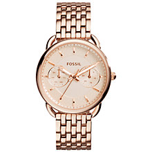 Buy Fossil Women's Tailor Stainless Steel Bracelet Strap Watch Online at johnlewis.com
