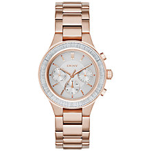 Buy DKNY NY2396 Women's Chambers Stainless Steel Bracelet Strap Watch, Rose Gold/Grey Online at johnlewis.com