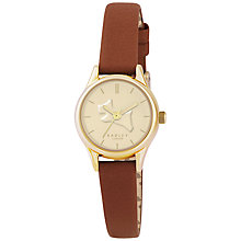 Buy Radley RY2330 Women's On The Run Leather Strap Watch, Tan/Gold Online at johnlewis.com