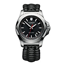 Buy Victorinox 241726 Men's I.N.O.X Cord Strap Watch, Black Online at johnlewis.com