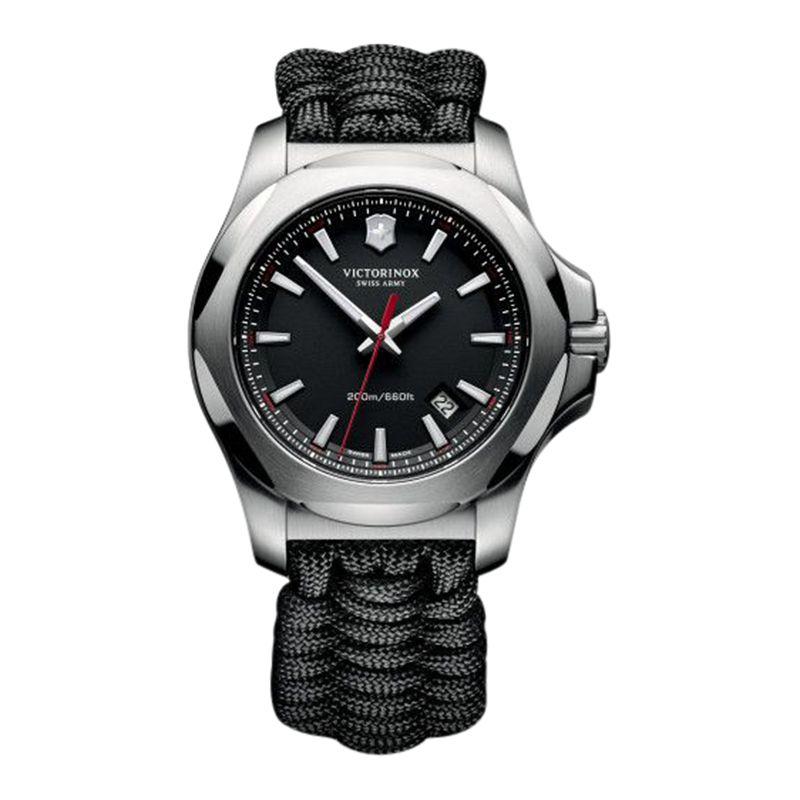 Victorinox Victorinox 241726 Men's I.N.O.X Cord Strap Watch, Black