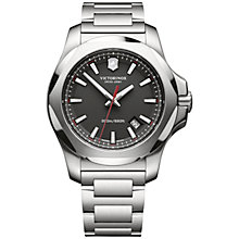 Buy Victorinox Men's I.N.O.X Date Bracelet Strap Watch Online at johnlewis.com