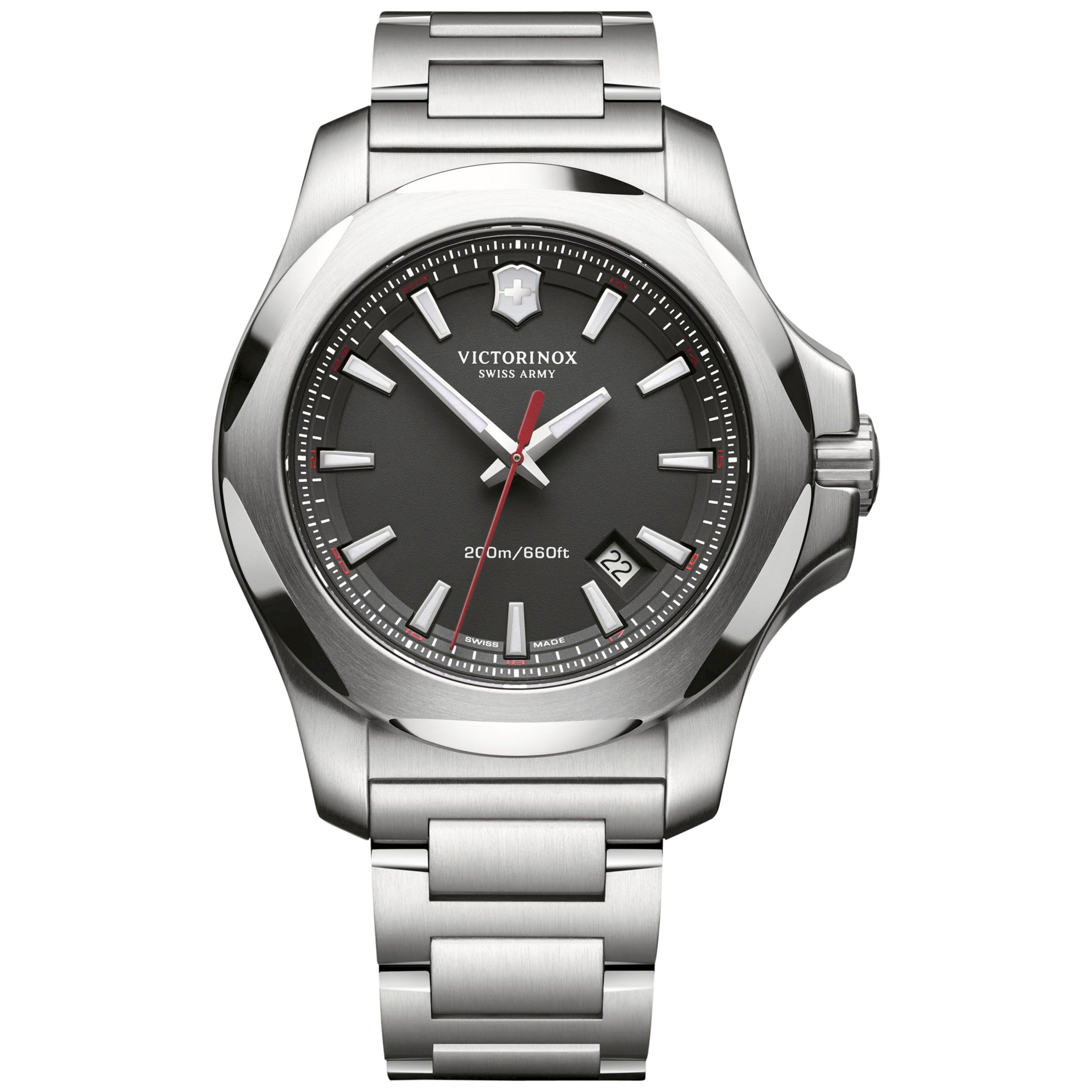 Victorinox Victorinox Men's I.N.O.X Date Bracelet Strap Watch