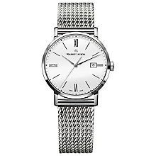 Buy Maurice Lacroix EL1084-SS002-111 Women's Eliros Mesh Bracelet Strap Watch, Silver/White Online at johnlewis.com