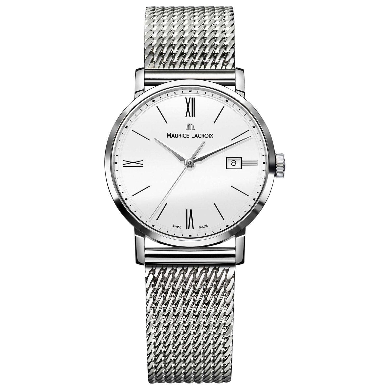 Maurice Lacroix Maurice Lacroix EL1084-SS002-111 Women's Eliros Mesh Bracelet Strap Watch, Silver/White
