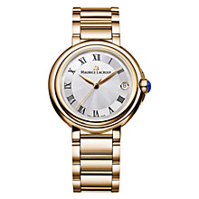 Buy Maurice Lacroix FA1004-PVP06-110 Women's Fiaba Bracelet Strap Watch, Gold/Silver Online at johnlewis.com