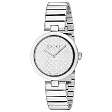 Buy Gucci YA141402 Women's Diamantissima Stainless Steel Bracelet Strap Watch, Silver Online at johnlewis.com