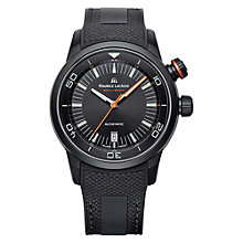 Buy Maurice Lacroix PT6248-PVB01-332 Men's Pontos S Diver Rubber Strap Watch, Black Online at johnlewis.com