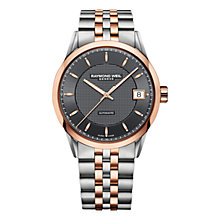 Buy Raymond Weil 2740-SP5-60021 Men's Freelancer Two Tone Bracelet Strap Watch, Silver/Rose Gold Online at johnlewis.com