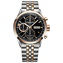 Buy Raymond Weil 7730-SP5-20111 Men's Freelancer Chronograph Day Date Two Bracelet Strap Watch, Silver/Gold Online at johnlewis.com
