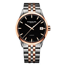 Buy Raymond Weil 2740-SP5-20011 Men's Freelancer Date Two Tone Bracelet Strap Watch, Silver/Rose Gold Online at johnlewis.com