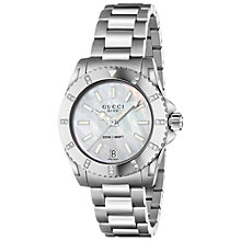Buy Gucci YA055213 Men's G-Class Stainless Steel Bracelet Strap Watch, Silver/Black Online at johnlewis.com