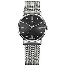 Buy Maurice Lacroix EL1084-SS002-350 Women's Eliros Diamond Set Mesh Bracelet Strap Watch, Silver/Black Online at johnlewis.com