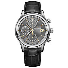 Buy Maurice Lacroix LC6158-SS001-330 Les Classiques Round Dial Crocodile Leather Strap Watch, Black/Silver Online at johnlewis.com