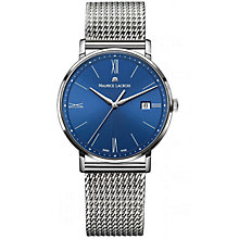 Buy Maurice Lacroix EL1087-SS002-410 Men's Eliros Stainless Steel Bracelet Strap Watch, Silver/Blue Online at johnlewis.com