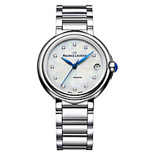 Buy Maurice Lacroix FA1004-SS002-170 Women's Fiaba Stainless Steel Bracelet Watch, Steel Online at johnlewis.com