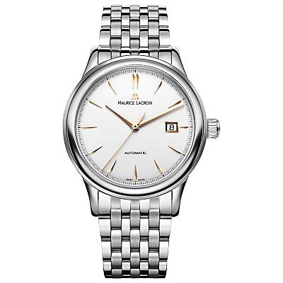 Maurice Lacroix LC6098-SS002-131 Men's Les Classiques Stainless Steel Bracelet Strap Watch, Sil