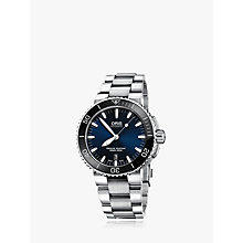 Buy Oris 01 733 7653 4135-07 Men's Bracelet Strap Watch, Silver Online at johnlewis.com