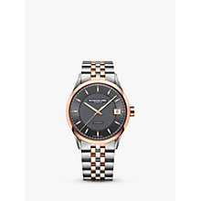 Buy Raymond Weil 2740-SP5-60021 Men's Freelance Date Two Tone Bracelet Strap Watch, Silver/Rose Gold Online at johnlewis.com