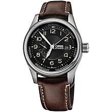 Buy Oris 01 745 7688 4034-07 5 22 77F Men's Big Crown Small Second Pointer Day Leather Strap Watch, Brown/Black Online at johnlewis.com
