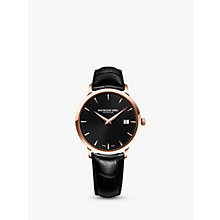 Buy Raymond Weil 5488-PC5-20001 Men's Toccata Leather Strap Watch, Black Online at johnlewis.com