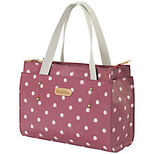 Buy Brakeburn Polka Dot Shopper Bag, Burgundy Online at johnlewis.com