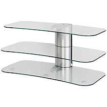 "Buy Off The Wall Skyline ARC1000 Silver TV Stand for Curved Screen TVs up to 50"" Online at johnlewis.com"