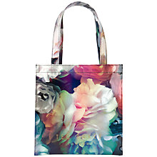 Buy Ted Baker Techcon Bloom Small Icon Shopper Bag, Black Online at johnlewis.com