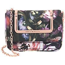 Buy Ted Baker Sefina Shadow Floral Clutch Bag, Mid Grey Online at johnlewis.com