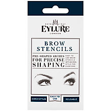 Buy Eylure Clear Brow Stencils, x 4 Online at johnlewis.com
