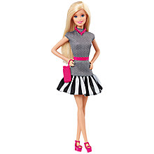 Buy Barbie Fashionistas Doll, Black & White Dress Online at johnlewis.com