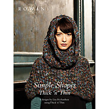 Buy Rowan Simple Shapes Thick n Thin by Lisa Richardson Knitting Pattern Book ZB183 Online at johnlewis.com