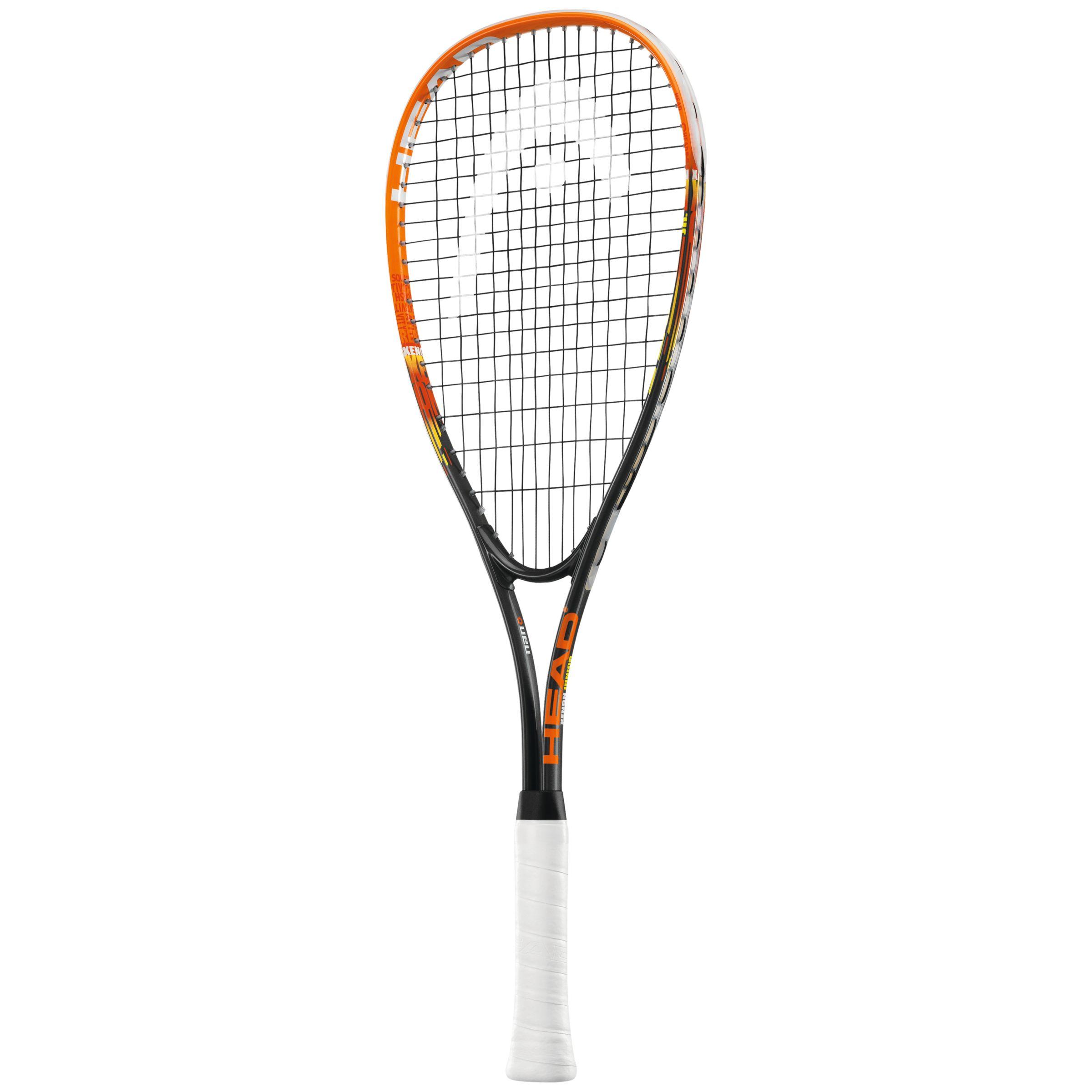 Head Head Xenon TI Junior Squash Racquet, Black/Orange