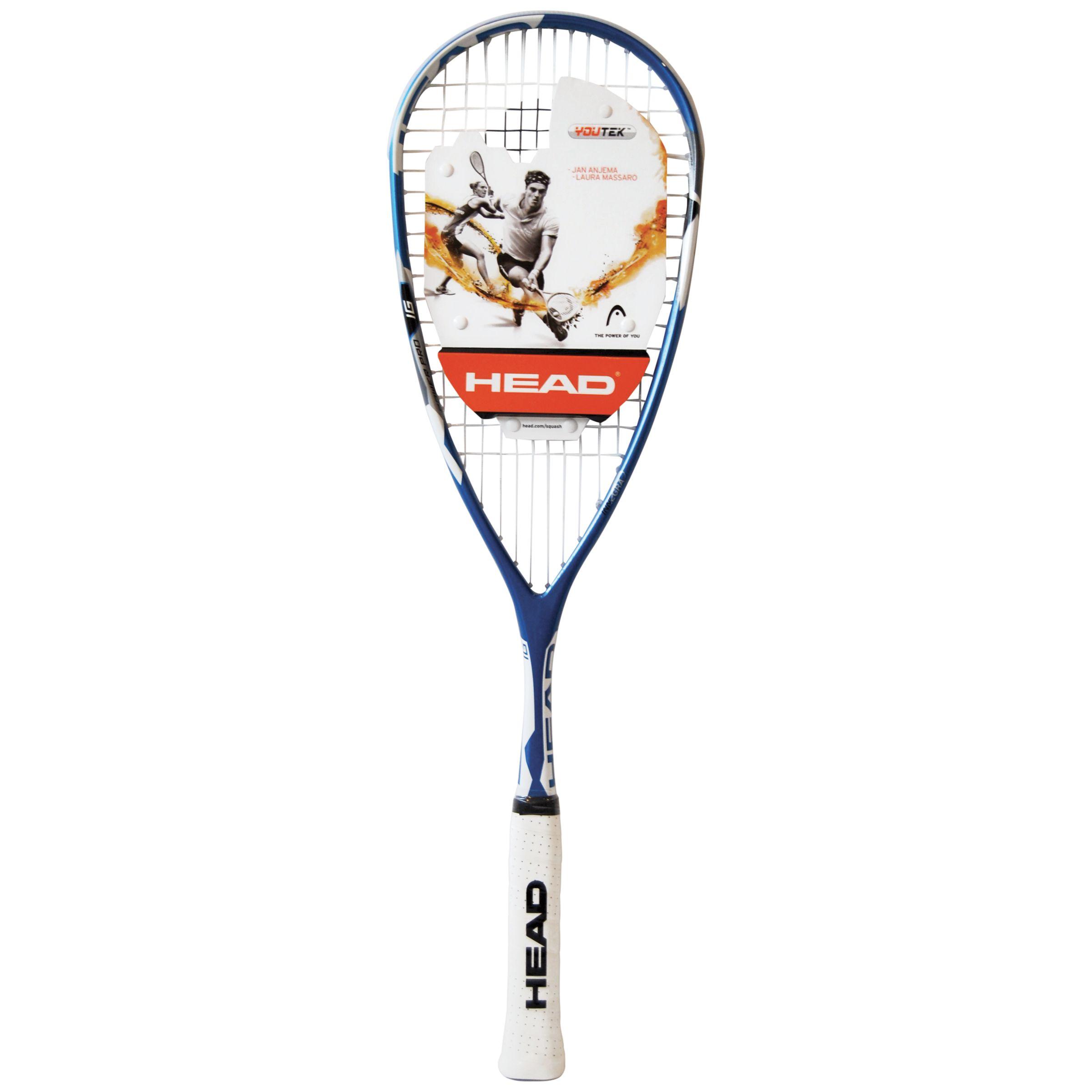 Head Head IG Power Pro Squash Racquet, Black/White