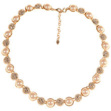 Buy Alice Joseph Vintage Monet Gold Plated Pearl White Diamante Necklace, Gold Online at johnlewis.com