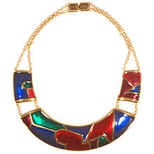 Buy Alice Joseph Vintage 1980s Monet Gold Plated Enamel Collar Necklace, Red Online at johnlewis.com