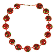 Buy Alice Joseph Vintage Hand Blown Venetian Glass Bead Necklace, Red Online at johnlewis.com