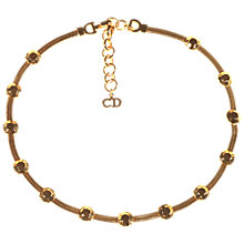 Buy Alice Joseph Vintage Christian Dior Gold Plated Stud Necklace, Gold Online at johnlewis.com
