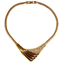 Buy Alice Joseph Vintage Monet Gold Plated Diamante Necklace, Gold Online at johnlewis.com