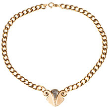 Buy Alice Joseph Vintage Trifari Gold Plated Enamel Pendant Necklace, Gold Online at johnlewis.com