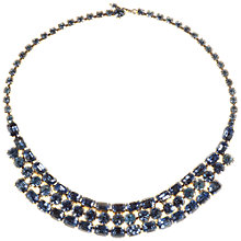 Buy Alice Joseph Vintage 1950s American Blue Silver Diamante Necklace, Blue Online at johnlewis.com