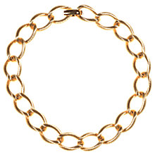 Buy Alice Joseph Vintage 1950s Christian Dior Hold Plated Chain Necklace, Gold Online at johnlewis.com
