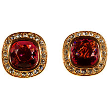 Buy Alice Joseph Vintage Monet Gold Plated Amethyst Diamante Post Earrings, Amethyst Online at johnlewis.com